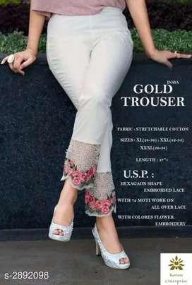 Alexandra Fabulous Stretchable Cotton Women's Trousers