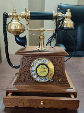 Antique telephone Brass Machine door telephone brass Clear Voice 1945