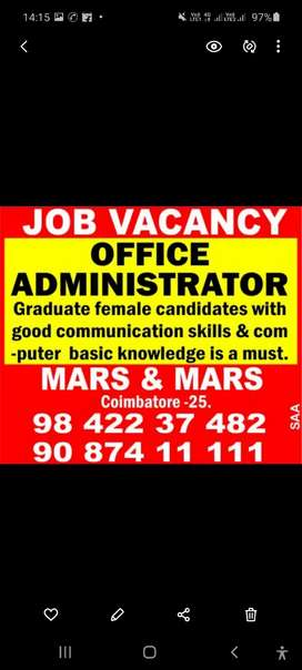 Female Office Administrator Required