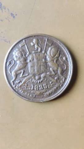 Old coin in 1835