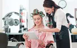 Need 3 YEAR Experienced MBA FOR MANAGER/RECEPTION POST IN Unisex Salon