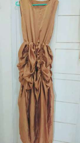 dress gaun brown