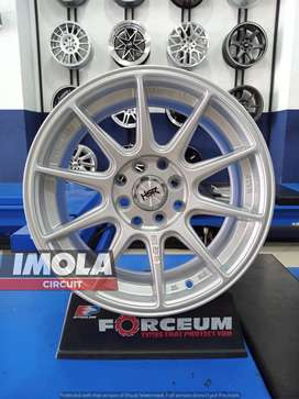 Velg mobil racing murah R15 HSR Shinjuku Ring 15 Warna Silver Brio RS