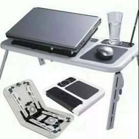 Meja Lipat Laptop Gratis Cooling Pad