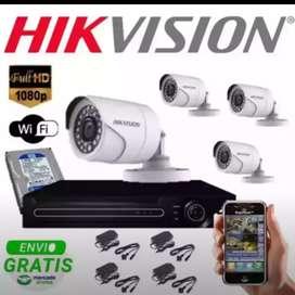 Pasang alat keamanan paket kamera cctv full hd 2mp lengkap
