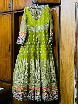 A beautiful Nikkah/Wedding Long Frok with embroidery.