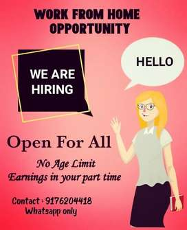 Work from home opportunity. Part time & Full time