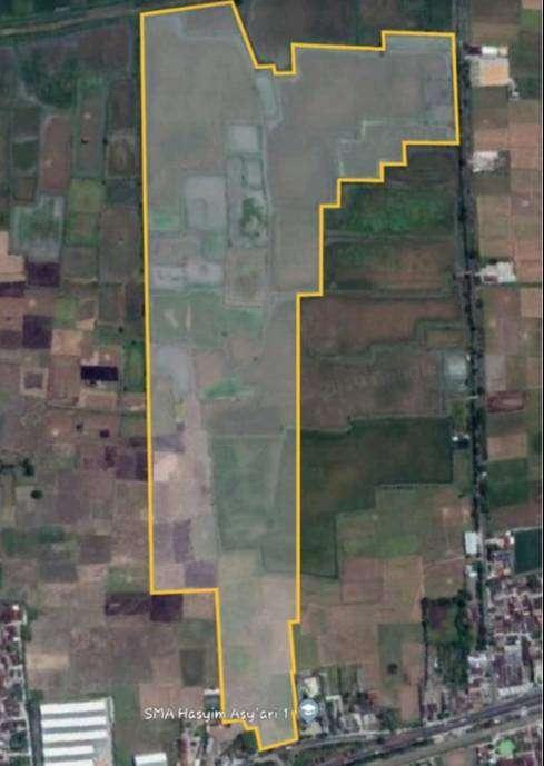 Dijual tanah 37 ha di Pucuk, Lamongan Peruntukan industri, Pintu masuk 0