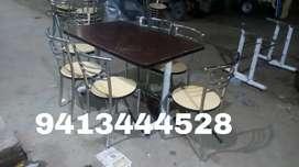 Newww ss frame restaurant table chair set
