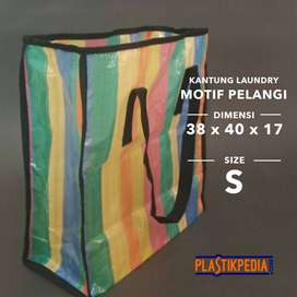 Tas Belanja/Tas Laundry Pelangi Size S (38x40x17cm)