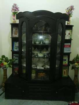 Wooden And Glass showcase