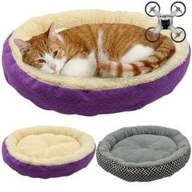 Pet Kasur Tempat Tidur Hewan Kucing Anjing Zigzag Bahan Lembut Rumah -