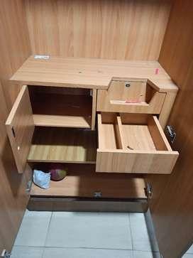 Wooden Almira Wardrobe 6.5 x 3ft