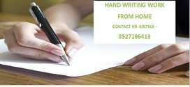 HAND WRITING WORK FROM HOME -PART TIME