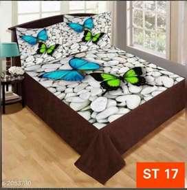 Comfy velvet digital printed double bedsheets