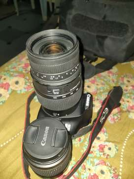 Cenon 1500D with 300 mm len's  1day 500 rupees