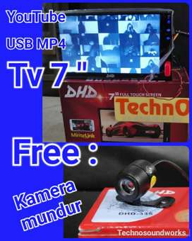 Tape Tv Mobil Free Kamera mundur doubledin double 2din mp4 usb radio