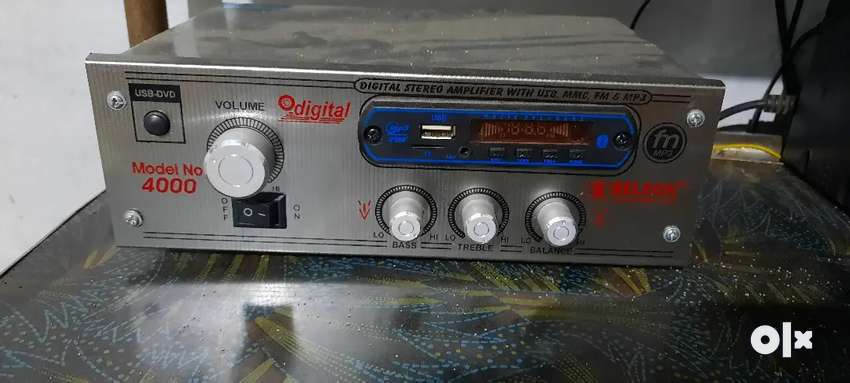 Amplifier with 8 inch suboofer and 6 inch suboofer