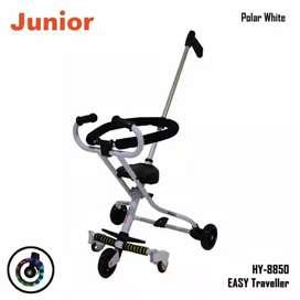 Stroller travel junior 5 roda with LED  strollernya lebih kokoh