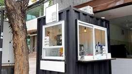 franchise es kopi kekinian pasti laris booth container,bisa dicicil 6x