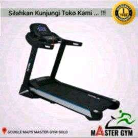 Alat Fitnes treadmil Elektrik TOTAL 199 black mesin 3 hp/BiG