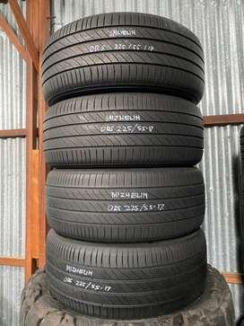 4pc Michelin 225/55 R17 85%utuh TH 2016 Hrv,Odyssey,Camry,Accord dll