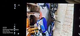New bike not a single scratch r15 blue with all paper up to date