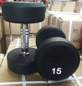 Rubber coated dumbblle&weight plates rod yoga&other workout equipments