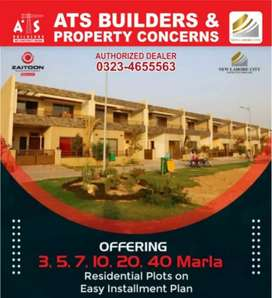 440/3 Marla Plot Sale B Block New Lahore City Onground Ready Possion .