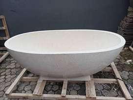 bathtub terazzo kualitas high premium tipe oval nuansa bali P160