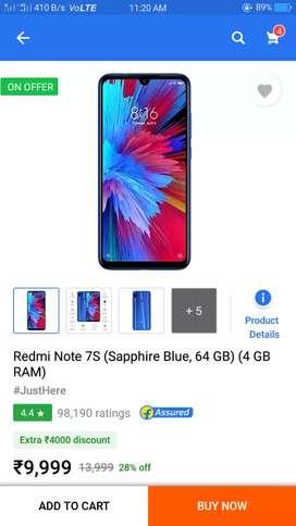 Redmi note 7s 3GB+32GB