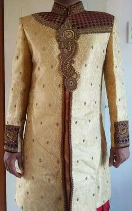 Wedding shervani, size - 38.