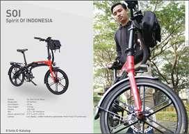 Sepeda lipat listrik type SOI by SELIS free helm