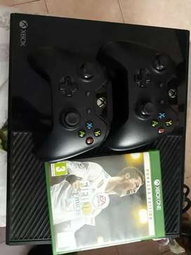 It is a XBOX ONE, With 2 controllers and a game.