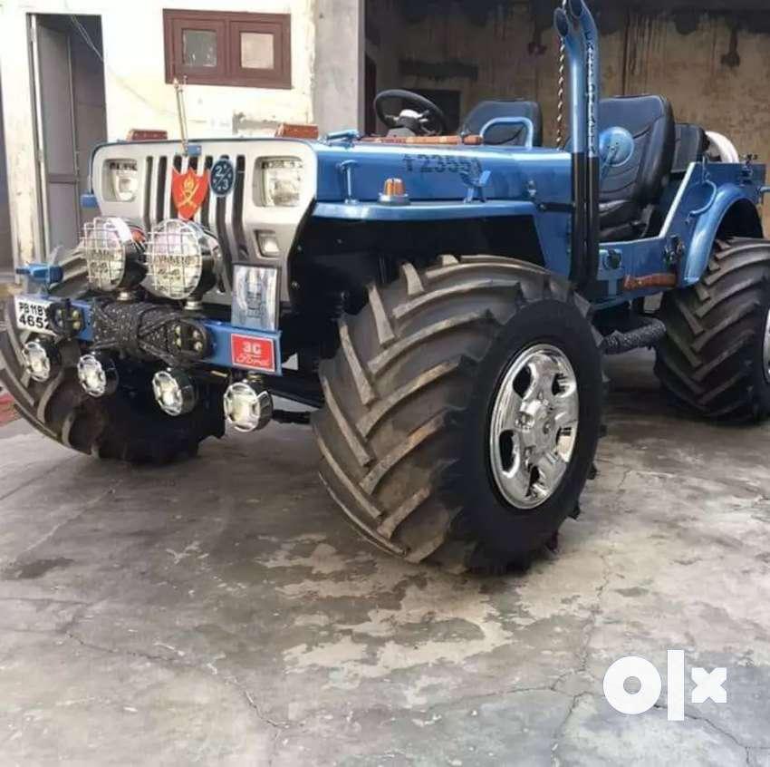 Black willys jeep 0