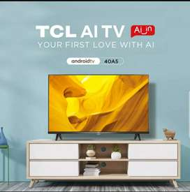 TCL LED 40 inchi (40A5) Smart TV Android Netflix Frameless Full HD TV