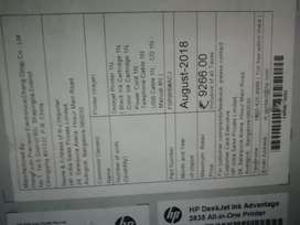 HP printer DeskJet ink advantage 3835