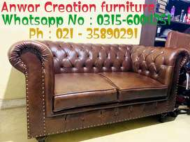 New Classic sofa set Seven Seater in imported Leatheright Cushioning