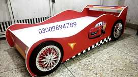 Brand new mcqueen car bed available in very reasonable price