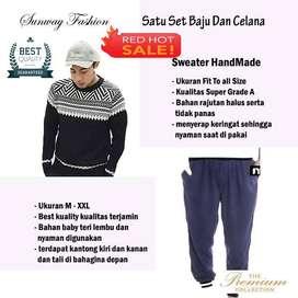 AM00242 Celana Setelan Satu set Sweater dan celana jogger