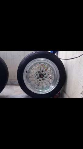 BBS rims and tyre 4 nuts