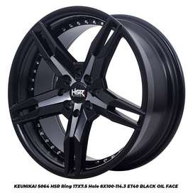 velg Vios type->KEUNIKAI 5064 HSR R17X75 H8X100-114,3 ET40 BK OIL FACE
