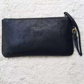 Dompet import eks GG5 kulit asli hitam model pouch