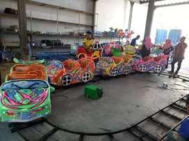 mini coaster odong kereta lantai odong AR lampu led hias warna