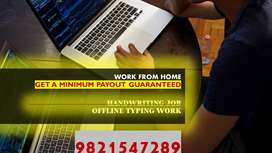 PART AND FULL TIME HANDWRITING AND TYPING JOB/WORK FROM HOME