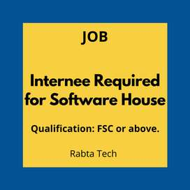 Internee Required for Software House