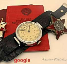 Jam Rusia Military Watch WW2 seiko omega bulova longines hamilton oris