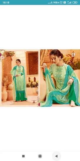 100% Cotton Dress with Chiffon Dupatta