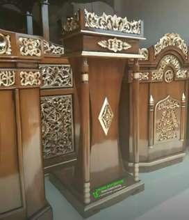 Mimbar podium masjid ukir Jepara