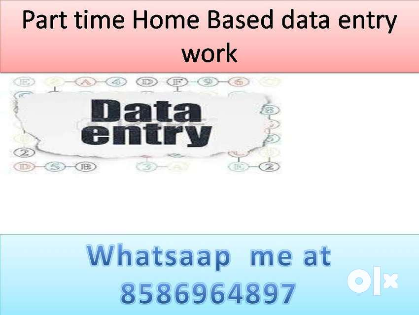 Data entry work part time job home based job typing work 0